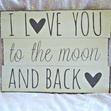 Plaque, Love, Wording, Wooden