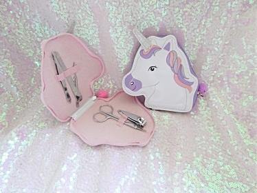 Unicorn, Manicure, glitter
